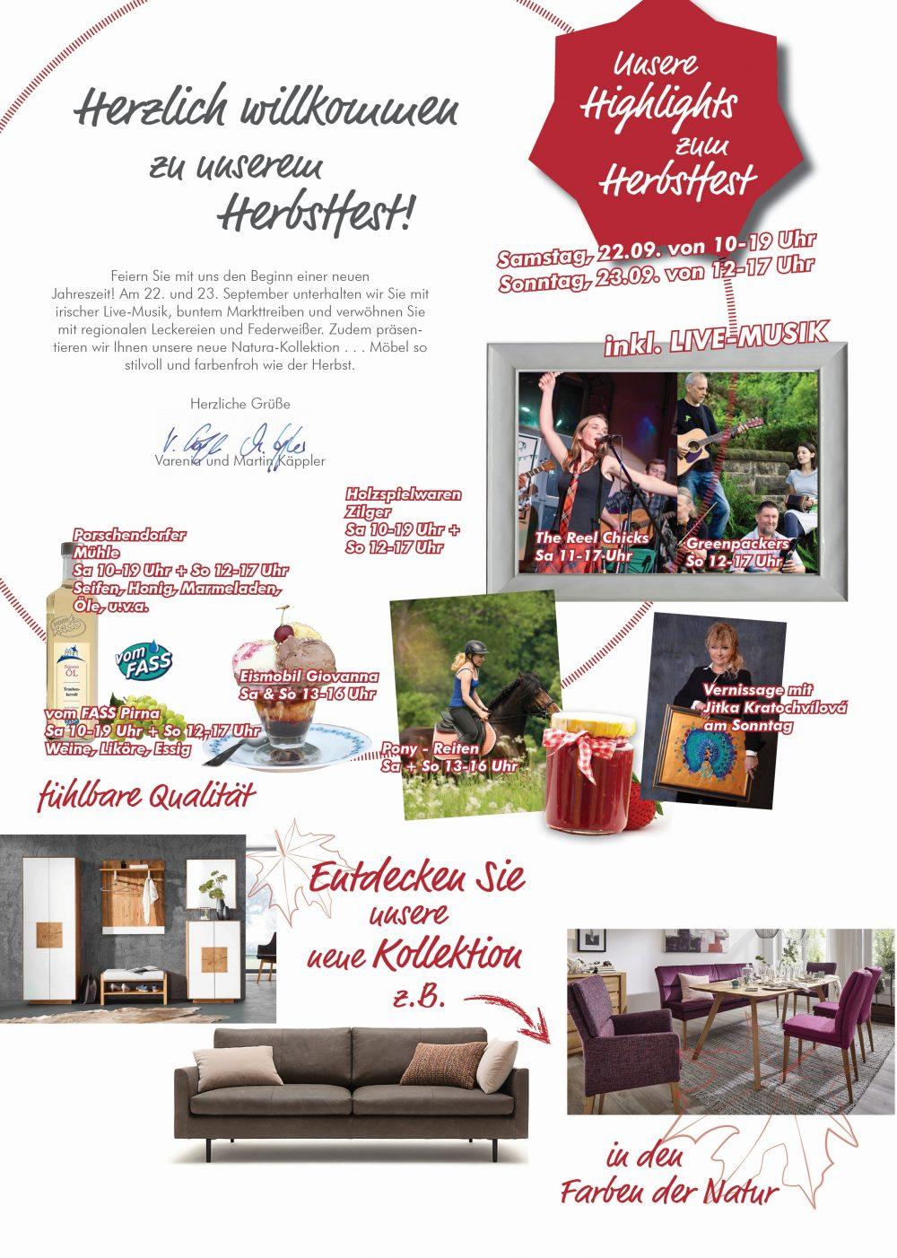 Herbstfest Mit Live Musik Am 2223 September Käppler