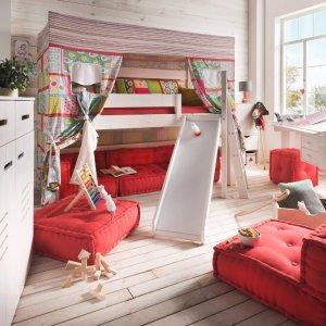 Kinderbett halbhoch mit Zelt