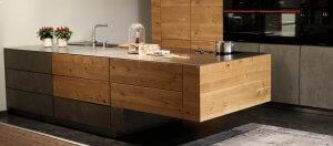 Küche Eiche Beton inkl. aller Geräte