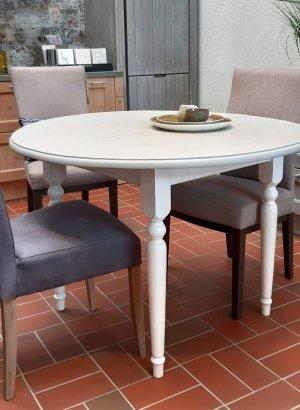 Tisch rund antike Provence grau